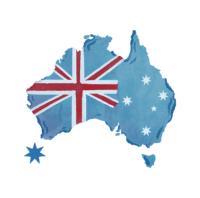 bendera australia di daratan benua australia
