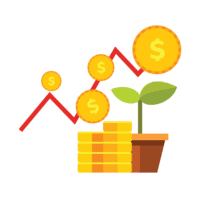 dollar, koim, tanaman, chart