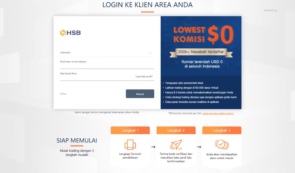 laman login web hsb investasi